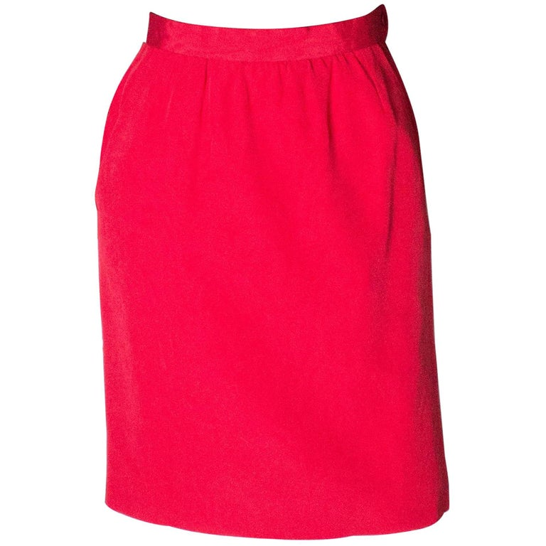 Yves Saint Laurent Vintage Rive Gauche Red Skirt