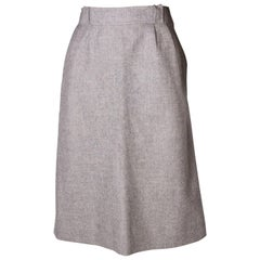 Courreges Vintage grey wool Skirt