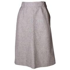 Courreges Vintage grey wool Skirt
