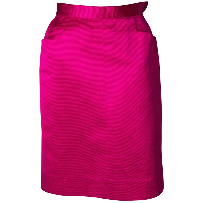 Yves Saint Laurent Vintage Pink Skirt
