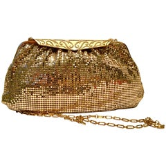 Vintage & New Gold Metal Mesh Evening Bag By, Whiting & Davis