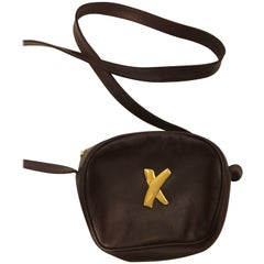 Paloma Picasso Brown Leather Crossbody Bag