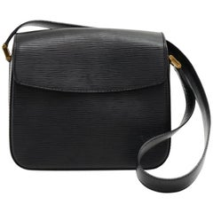 Louis Vuitton Byushi Black Epi Leather Shoulder Bag