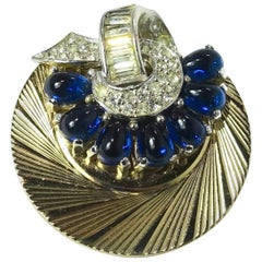 Vintage 1950s Signed Boucher Blue Swirl Brooch