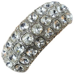 Kenneth Jay Lane Brilliant Crystal Cuff Bracelet