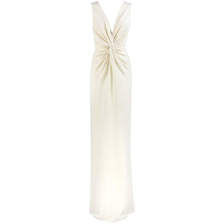 Armani Ivory Silk Vintage Wedding Dress, 2000s
