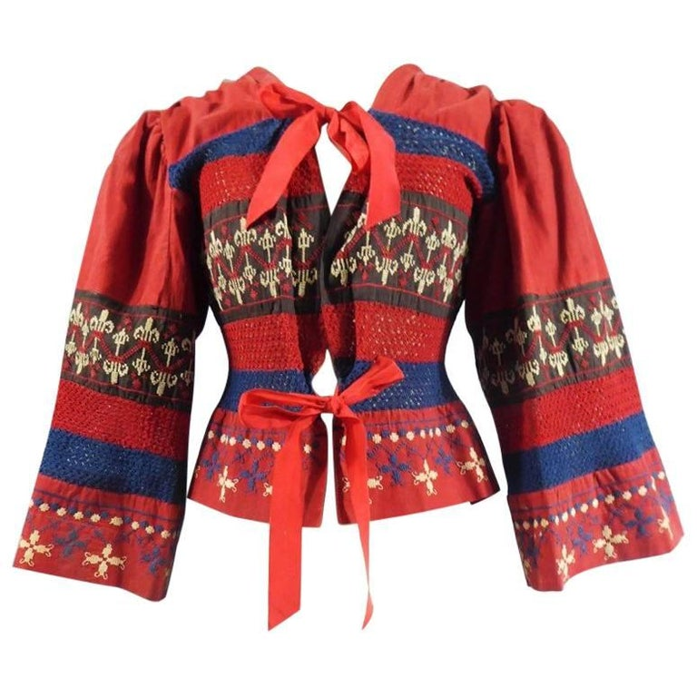 Russian inspired embroidered bodice in the style of Jeanne Lanvin - France