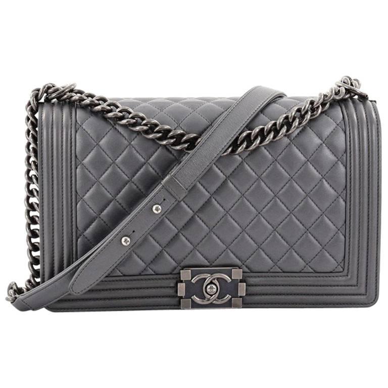 58b9cb4758bb Chanel Boy Flap Bag Quilted Lambskin New Medium at 1stdibs