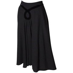 Vintage Valentino Black Wool Skirt