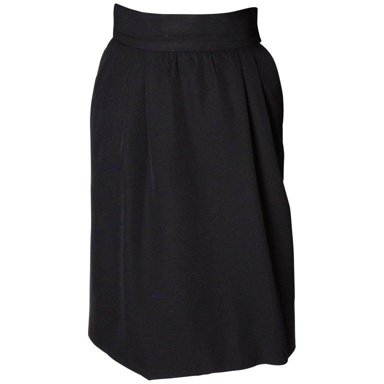 Yves Saint Laurent Vintage Rive Gauche Le Smoking Skirt