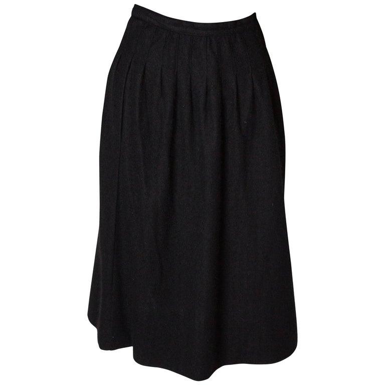 Yves Saint Laurent Vintage Rive Gauche Cashmere Skirt For Sale