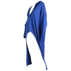 Oversized Blue Italian Sweater with Tails