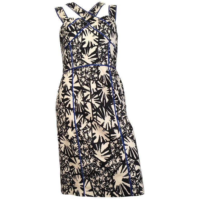 Oscar de la Renta Cotton Sleeveless Dress Size 8.