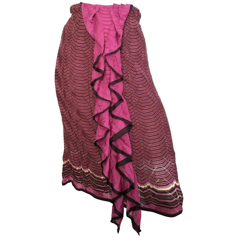 Missoni Knit Skirt with Ruffle Size 4.