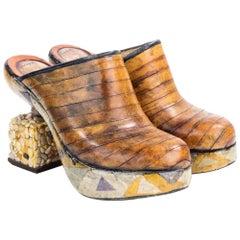 Joseph Debach Art To Wear Hand Made Platform Shoe