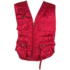 Sonia Rykiel red quilted vest 1980s
