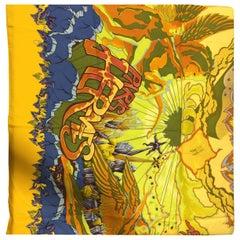 "Hermes ""Aube Libre Comme L' Ange"" 2002/2003 Silk Print Scarf By Zoe Pauwels"