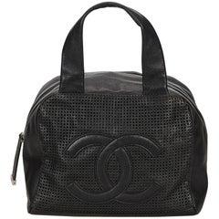 Chanel Black Caviar Leather Handbag