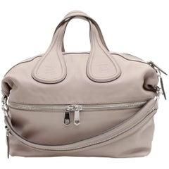 GIVENCHY Nightingale Large Model Handbag in Pink Beige Leather