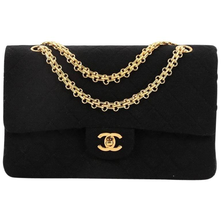 c968f7d4c198 Chanel Vintage Reissue Chain Double Flap Bag Quilted Jersey Medium For Sale