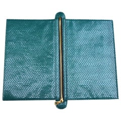 Emerald Snake Embossed Double Sided Flip Bag