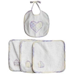 Burberry Purple Plaid Infant Bib & Washcloth Set