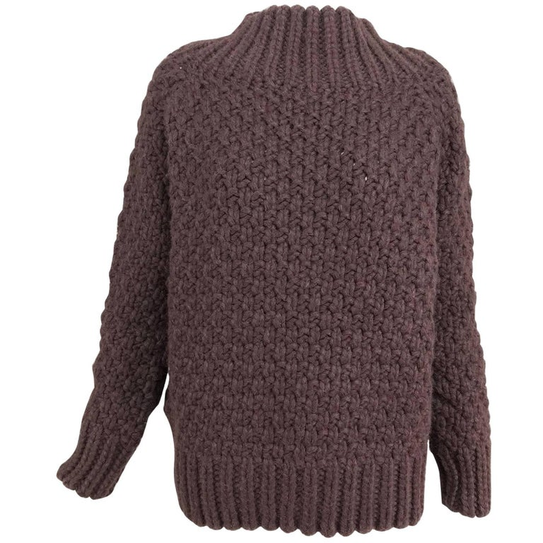 The Row chunky knit cashmere basket weave sweater