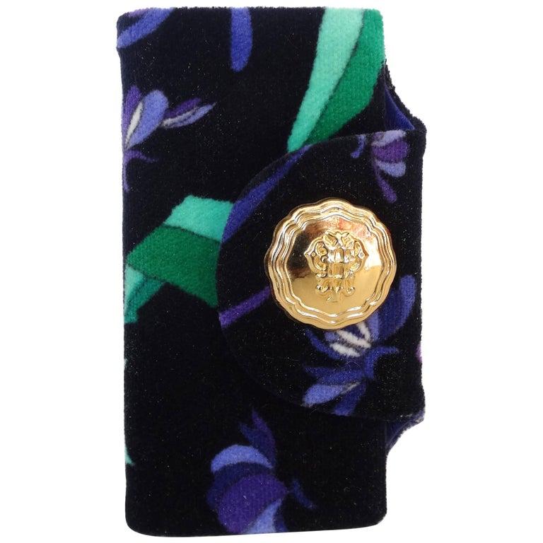 1960s Emilio Pucci Velvet Printed Key Case
