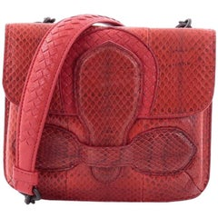 Bottega Veneta Rialto Double Sided Flap Bag Python Mini