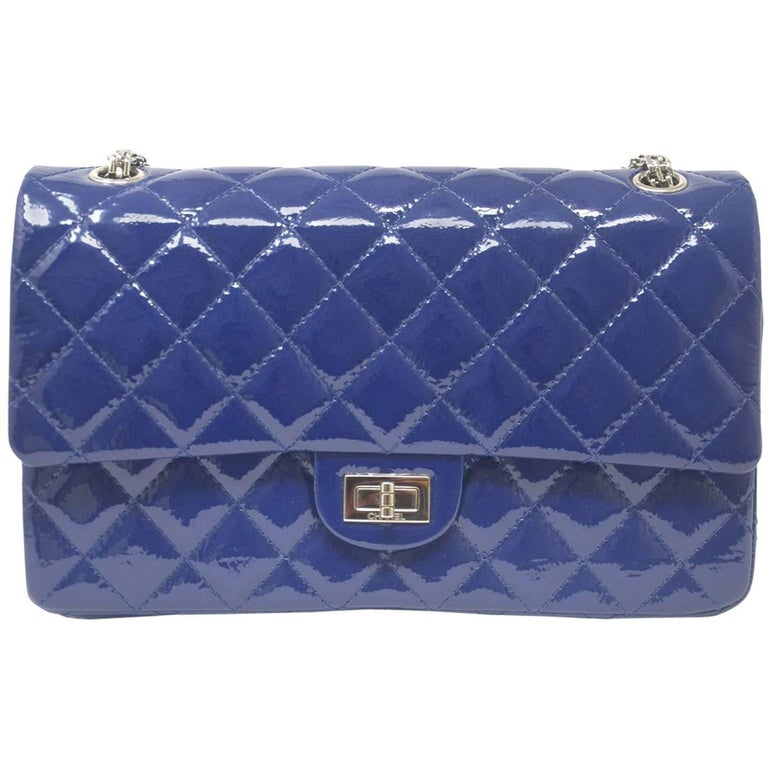 Chanel Navy Blue Reissue Patent Leather 2.55 Classic Handbag