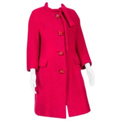 1960s Red Wool Marie Martine Coat