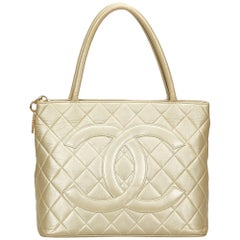 Chanel Gold Medallion Lambskin Tote