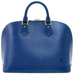 Louis Vuitton Alma Blue Epi Vintage Leather Hand Bag