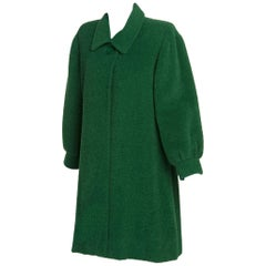 Fall/ Winter Givenchy Haute Couture Green Textured Wool Coat, 1995