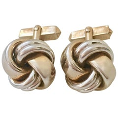 "VIntage Pair Of Two Tone ""Love Knot"" Cufflinks By, Swank"