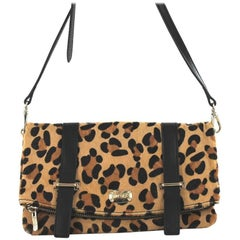 Jimmy Choo Small Bag in Leopard Printed Foal-like Calf