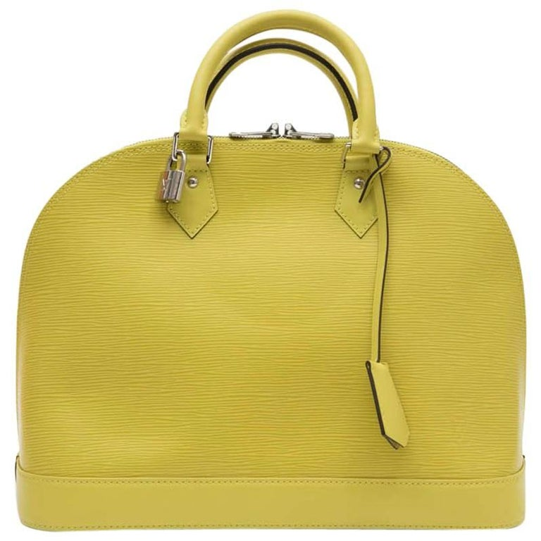 LOUIS VUITTON 'Alma' MM Bag in Pistachio Epi Leather