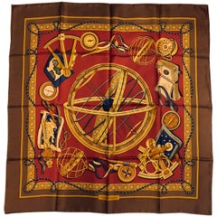 Scientific Salvatore Ferragamo Silk Twill Scarf