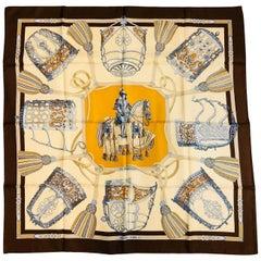 Hermès Les Muserolles Silk Twlll Carre by Christiane Vauzelles Excellent