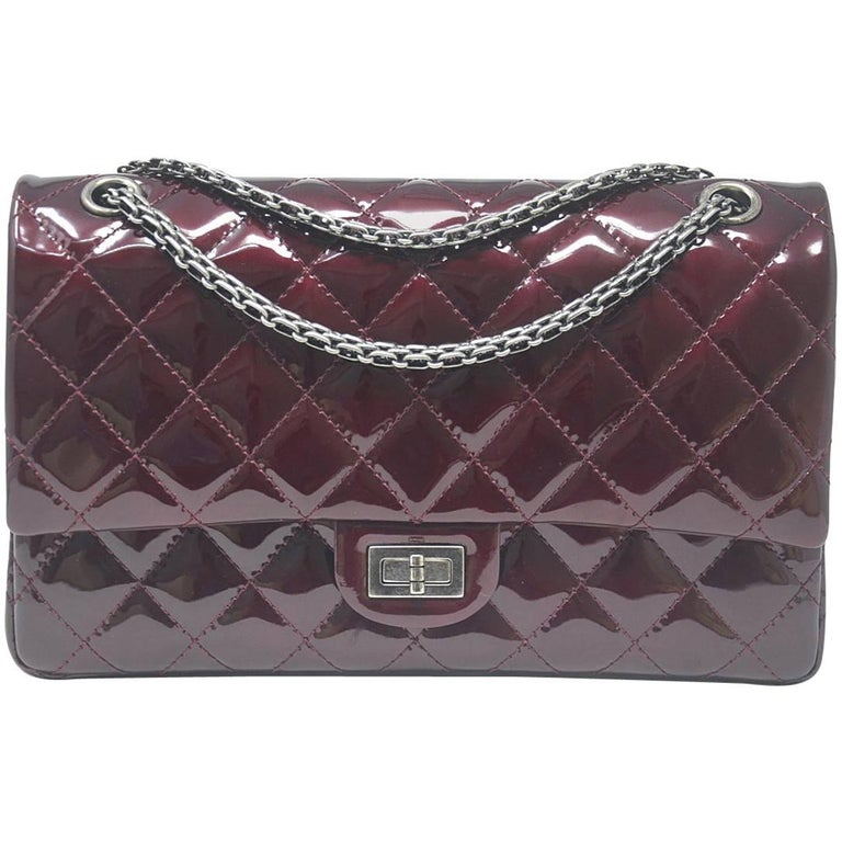 Chanel Burgundy Reissue Patent Leather 2.55 Classic Handbag