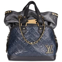 2009 Louis Vuitton Blue & Black Monogram Calfskin Leather Double Jeu Neo-Alma