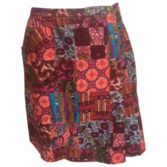 Pink purple cotton printed skort