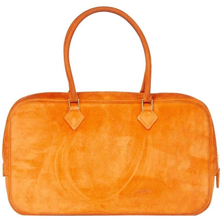 Hermes Orange H Doublis Plume Elan 28