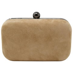 Russell & Bromley 'Curvy' Leather Clutch in Taupe