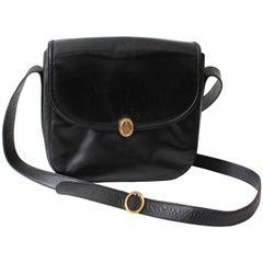 Mark Cross Messenger Bag Cross Body Black Calfskin Leather Made in Italy