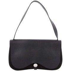 Hermes Colorado Handbag Leather and Toile MM