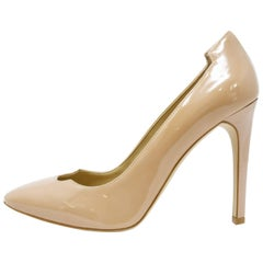 Stella McCartney Nude, Patent, Morgana Pumps, Size 37