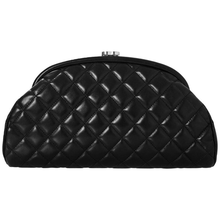 e7b61f689da7 Chanel Black Quilted Lambskin Timeless Clutch Bag For Sale at 1stdibs