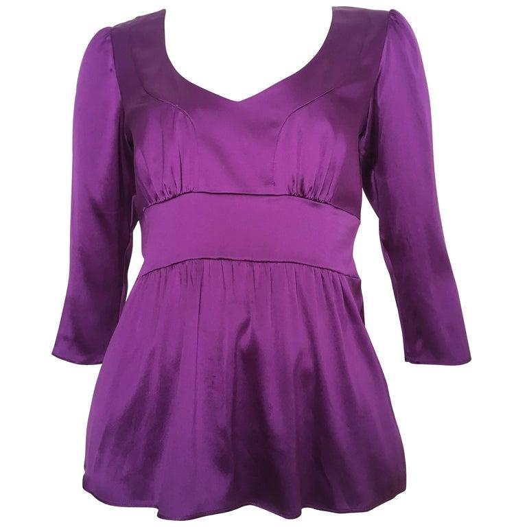 ETRO Silk Purple Blouse Size 6.