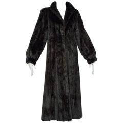 Pristine Blackglama Brown-Black Mink Greatcoat, 2006